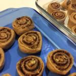 100% Whole Wheat Cinnamon Rolls Plain and Walnut