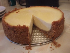 Cheesecake from springform pan