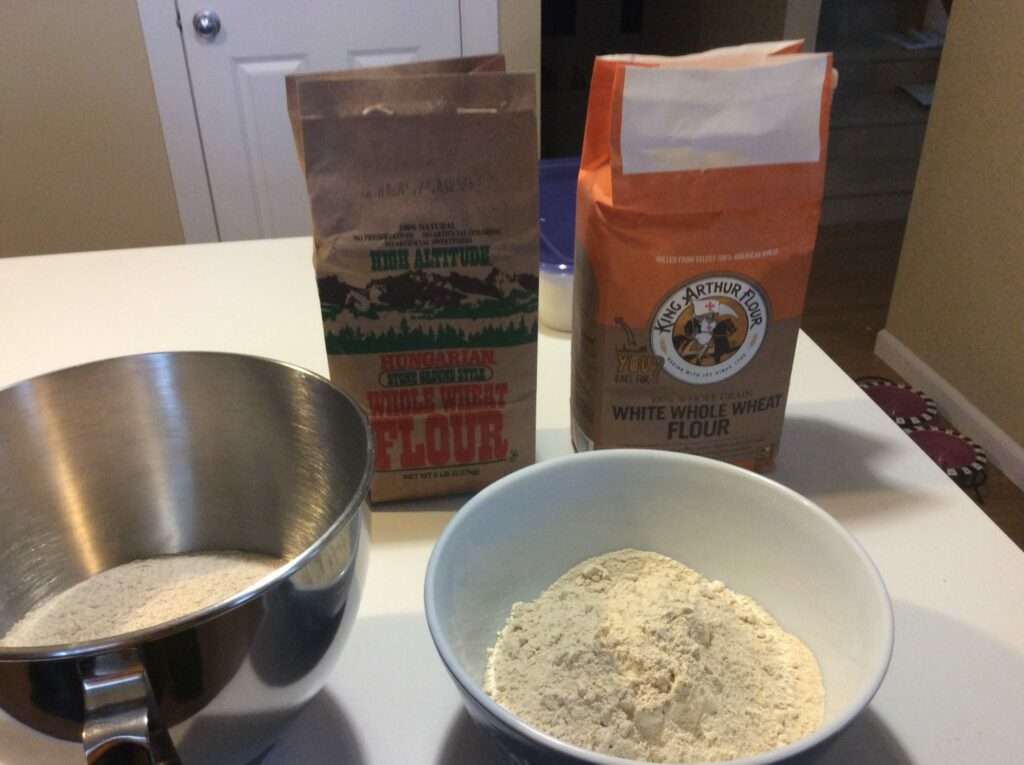 Testing white versus regular whole wheat
