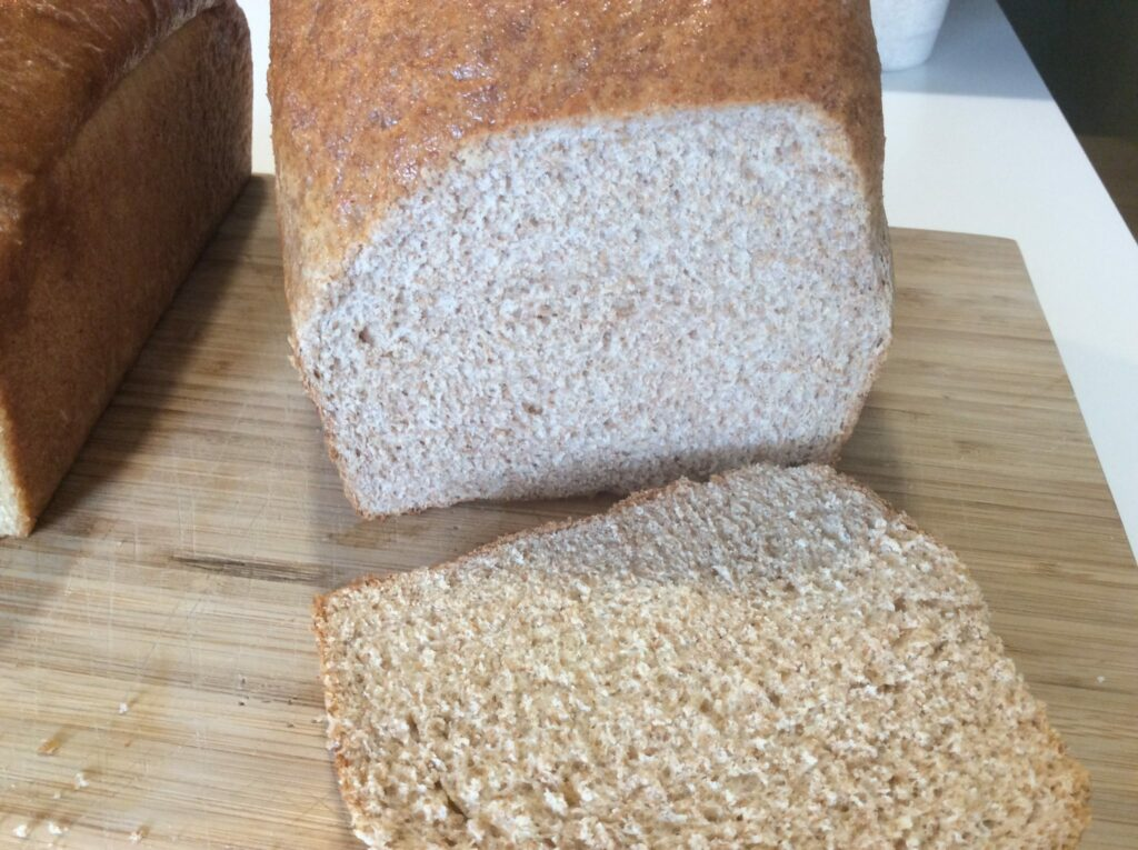 White whole wheat loaf