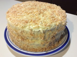 Finished Old Fashioned Coconut Cake