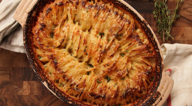 Hasselback Potatoes Gruyere