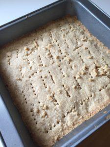 Baked shortbread