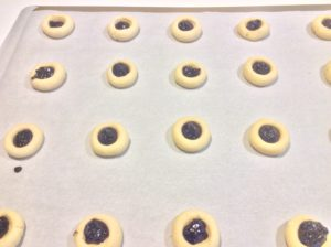 Unbaked Raspberry Thumbprint Cookies