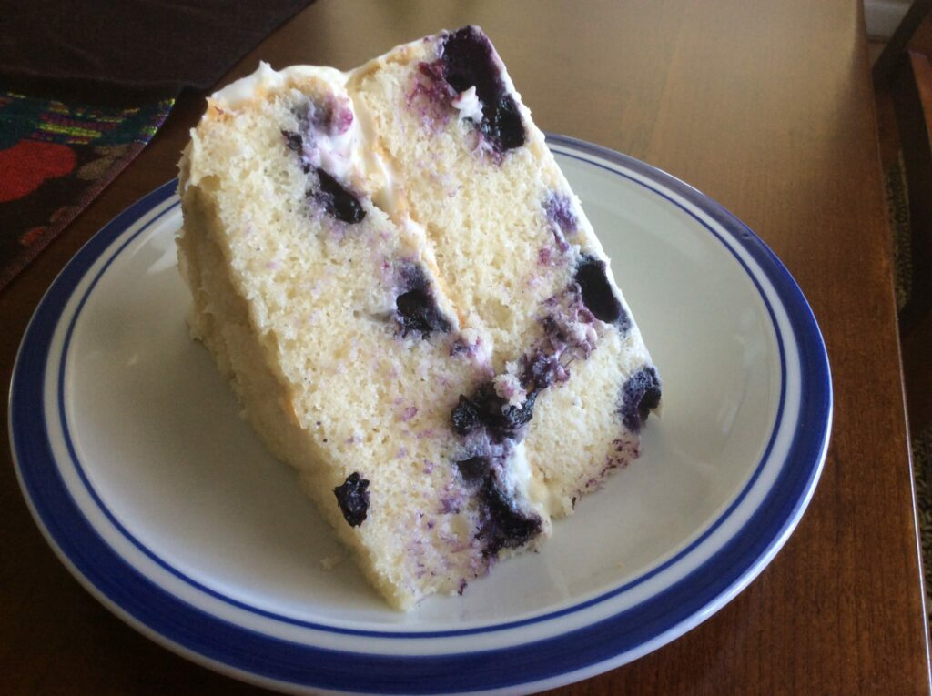 All-Natural Lemon Blueberry Cake